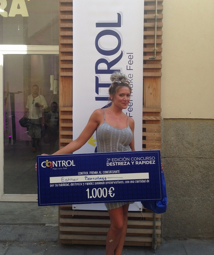 Esther-Barrabeig-wins-1000-Euros-in-Spanish-Condom-Competition