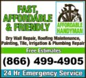 Plumbing-Plumbers-HVAC-Roofing-Painter-Electrician-Handyman-Flooring (Call, Text or Email)