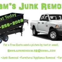 Sam's Junk Removal Services Prices Starting as Low as $50 (Cabarrus, Mecklenburg, Stanley & Union Counties)