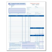 General Contractor Invoice Forms