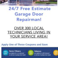 $49 Garage Door Installer Repair Opener Installation Service Company (BBB+ Certified License Va. Md. DC Garage Installation Replac)