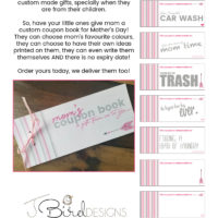 Custom Coupon Book for Mother's Day!